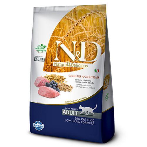 Ração Farmina N&D Low Ancestral Grain Sabor Cordeiro e Blueberry para Gatos Adultos 1,5kg