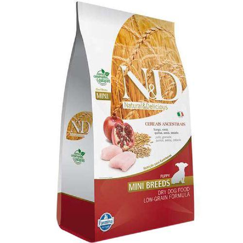 Ração Farmina N&D Low Ancestral Grain Sabor Frango e Romã para Cães Filhotes de Raças Pequenas 800g