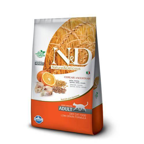 Ração Farmina N&d Low Grain Peixe para Gatos Adultos - 1,5kg