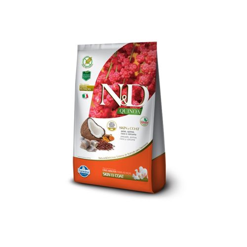 Ração Farmina N&D Quinoa Skin & Coat Sabor Peixe para Cães Adultos 800g