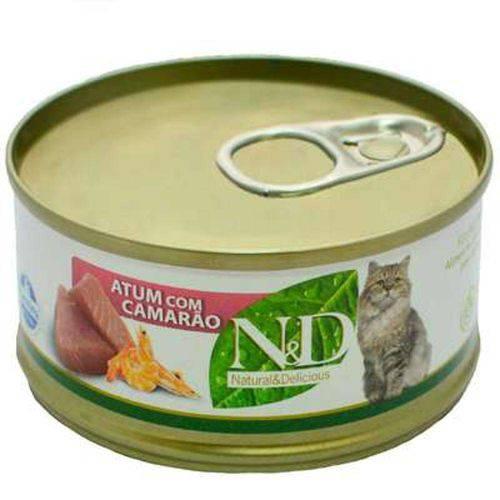 Ração Farmina N D Úmida de Atum e Camarão para Gatos - 70 G