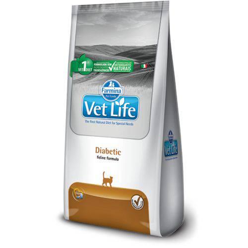 Ração Farmina Vet Life Diabetic para Gatos Adultos Diabéticos - 400g