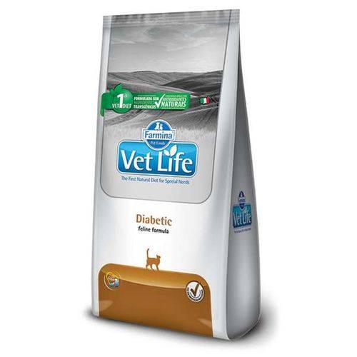 Ração Vet Life Natural Diabetic para Gatos Adultos - 2kg