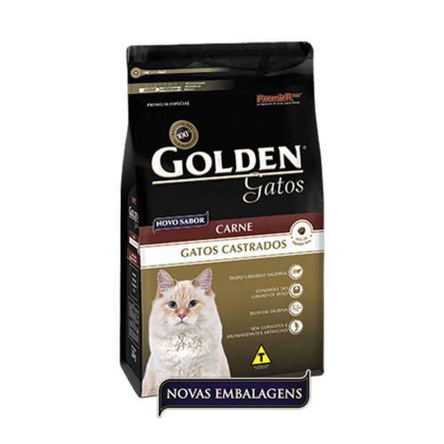 Ração Golden Carne para Gatos Adultos Castrados 10,1kg - Premier Pet