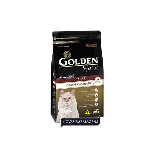 Ração Golden de Carne P/ Gatos Adultos Castrados 1kg - Premier Pet