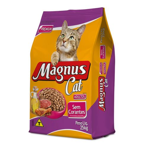 Ração Magnus Cat Sem Corantes para Gatos Adultos 25kg