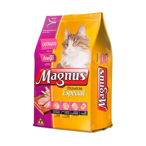 Ração Magnus Especial para Gatos Castrados Sabor Frango - 1kg
