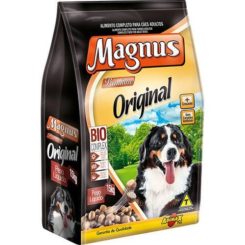 Ração Magnus Original para Cães Adultos Carne 15kg