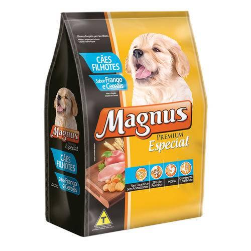 Ração Magnus para Cães Filhotes Premium Especial Sabor Frango e Cereais - 1kg