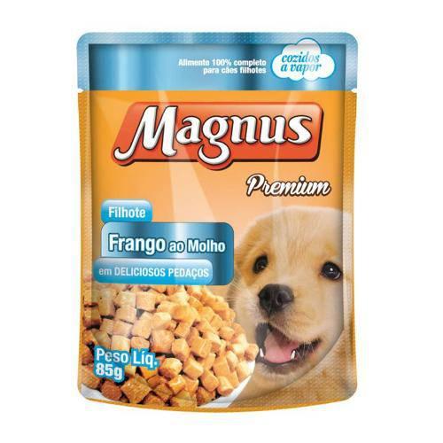Ração Magnus Sachê Cães Filhote Frango ao Molho Adimax Pet - 85g