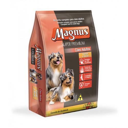 Ração Magnus Super Premium para Cães Adultos Carne e Arroz - 15kg