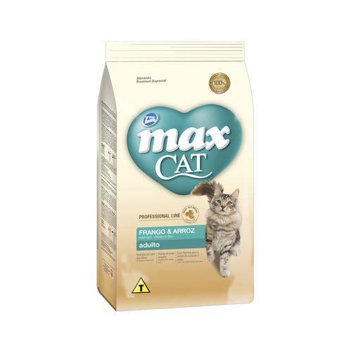Ração Max Cat para Gatos Adultos P. Line Sabor Frango e Arroz - 1kg