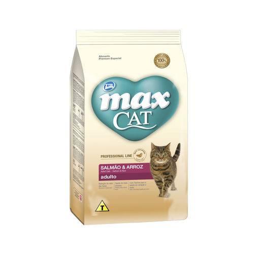 Ração Max Cat para Gatos Adultos P. Line Sabor Salmão e Arroz - 1kg