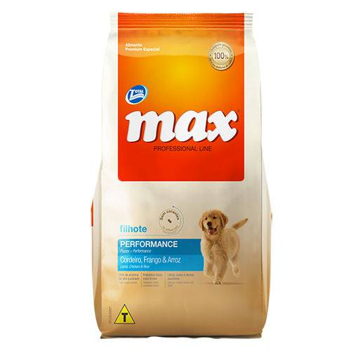 Ração Max Professional Line para Cães Filhotes Sabor Frango - 10,1kg
