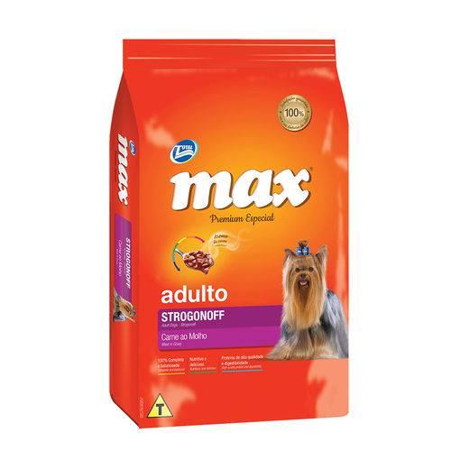 Ração Max Strogonoff para Cães Adultos Sabor Carne ao Molho - 2kg