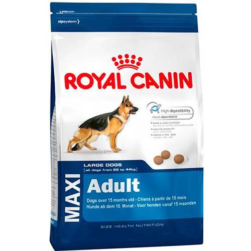 Ração Maxi Adult para Cães Adultos Grandes a Partir de 15 Meses 15Kg - Royal Canin
