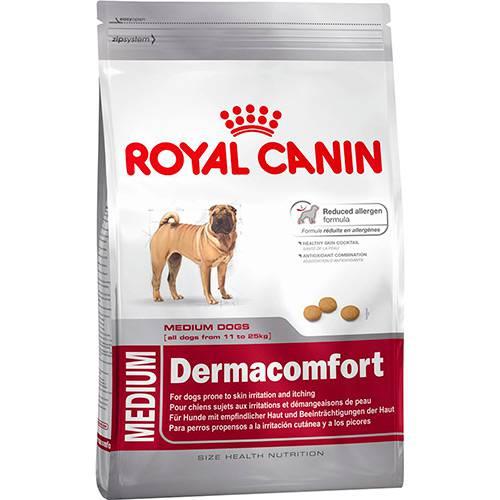 Ração Medium Dermacomfort para Cães Adultos ou Idosos de Raças Médias 10,1kg - Royal Canin