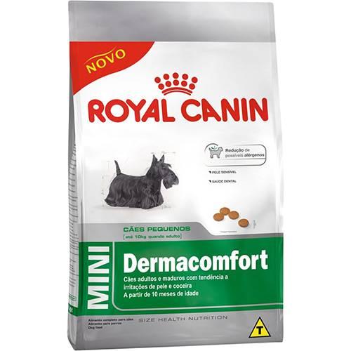 Ração Mini Dermacomfort para Cães Adultos de Raças Pequenas com Irritações de Pele 1kg - Royal Canin