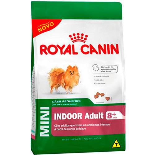 Ração Mini Indoor Adult 8+ para Cães de Raças Pequenas Acima de 8 Anos 7,5kg - Royal Canin