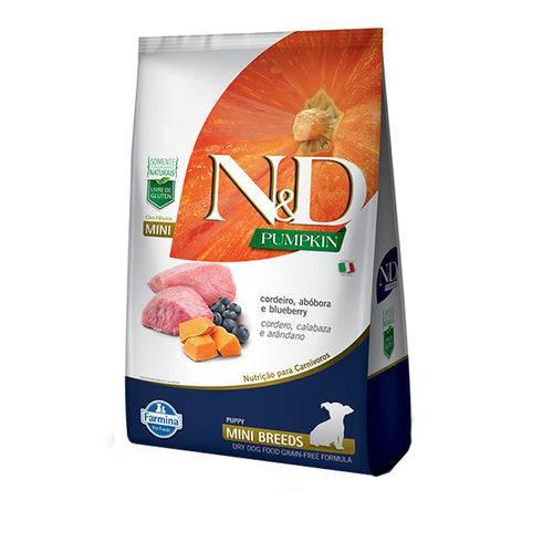 Ração N&D Pumpkin para Cães Filhotes Raças Mini Sabor Cordeiro, Abóbora e Blueberry - 2,5kg
