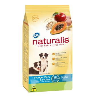 Ração Naturalis Cães Filhotes Frango, Peru & Frutas 2kg