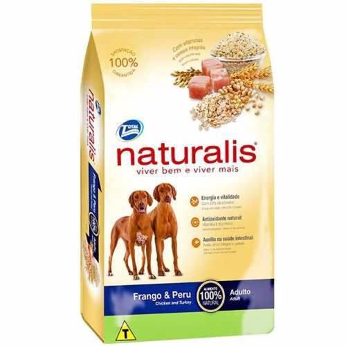 Ração Naturalis Frango Peru Cães Adultos 15kg
