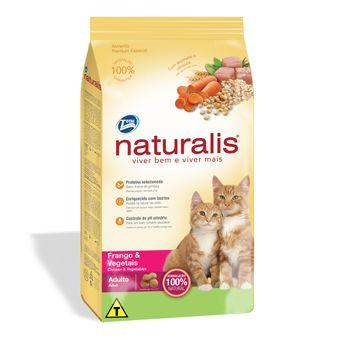 Ração Naturalis Gatos Adultos Frango & Vegetais 1kg