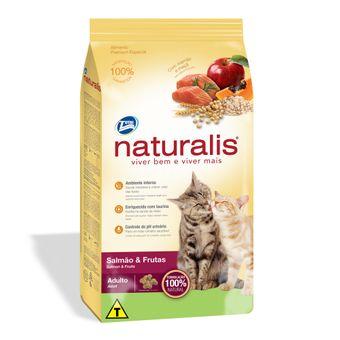 Ração Naturalis Gatos Adultos Salmão & Frutas 1kg