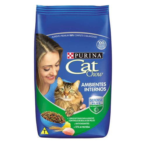 Ração Nestlé Purina Cat Chow Adultos Ambiente Interno - 1 Kg