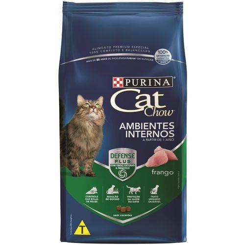 Ração Nestlé Purina Cat Chow Adultos Ambientes Internos 3Kg