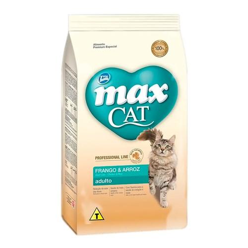 Ração para Gatos Max Cat Professional Line Adultos Sabor Frango e Arroz 1kg