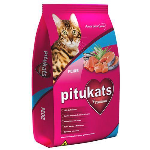 Ração Pitukats Peixe Premium 7kg