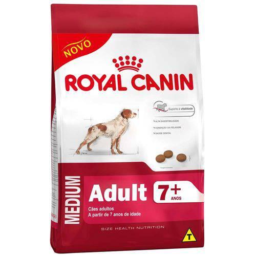 Ração Royal Canin Medium Adult 7+ para Cães Adultos Porte Médio a Partir de 7 Anos de Idade - 2,5 Kg