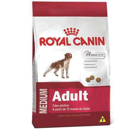 Ração Royal Canin Medium Adult para Cães Adultos de Porte Médio - 15 Kg