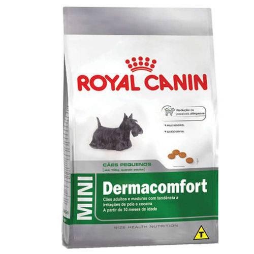 Ração Royal Canin Mini Dermacomfort para Cães Adultos Porte Pequeno com Irritações de Pele - 2,5 Kg