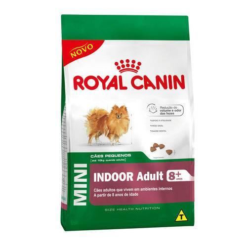 Ração Royal Canin Mini Indoor 8+ Cães Adultos - 7,5kg