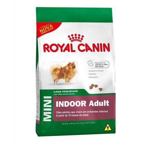 Ração Royal Canin Mini Indoor Adult para Cães Adultos de Raças Pequenas - 2,5kg