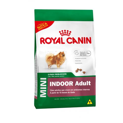 Ração Royal Canin Mini Indoor Adult para Cães Adultos de Raças Pequenas - 7,5Kg 7,5kg