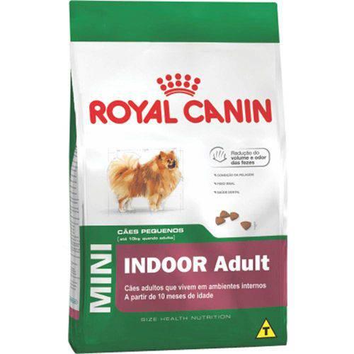 Ração Royal Canin Mini Indoor Adult para Cães Adultos de Raças Pequenas - 7,5kg