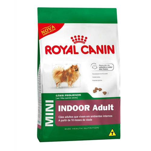Ração Royal Canin Mini Indoor - Cães Adultos - 7,5kg