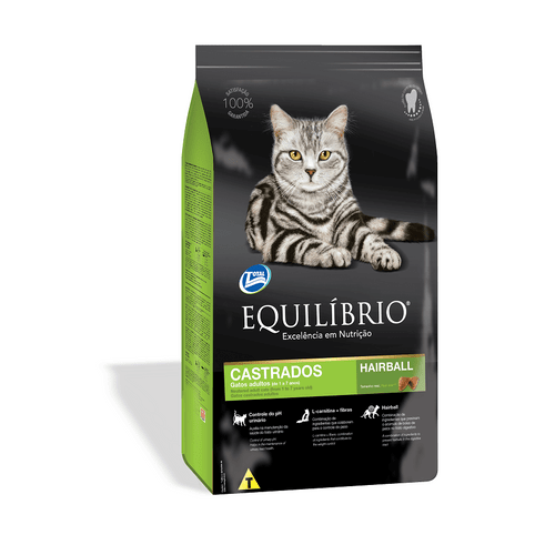 Ração Super Premium Total Equilíbrio para Gatos Castrados de 1 a 7 Anos 500g