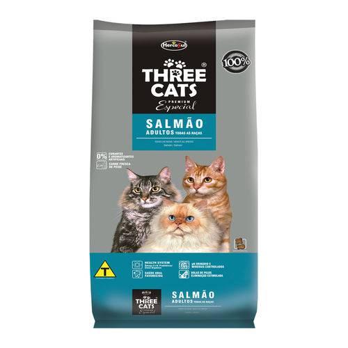 Ração Threecats para Gatos Adultos Especial Sabor Salmão - 1kg