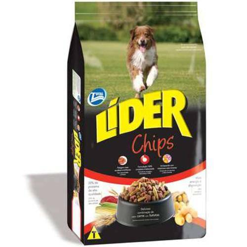 Ração Total Lider Chips com Ômega 3 para Cães Adultos - 15kg