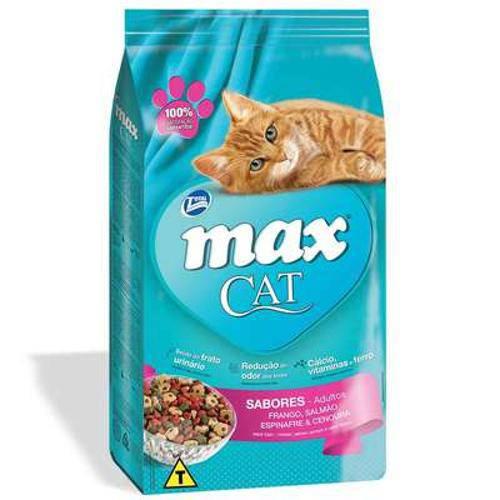 Ração Total Max Cat Sabores para Gatos - 1 Kg