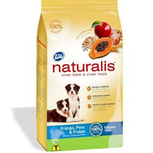 Ração Total Naturalis Frango, Peru e Frutas para Cães Filhotes - 2kg