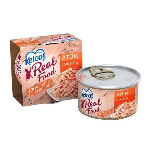 Ração Úmida Kelco Kelcat Real Food Sabor Atum com Kani para Gatos Adultos 85g