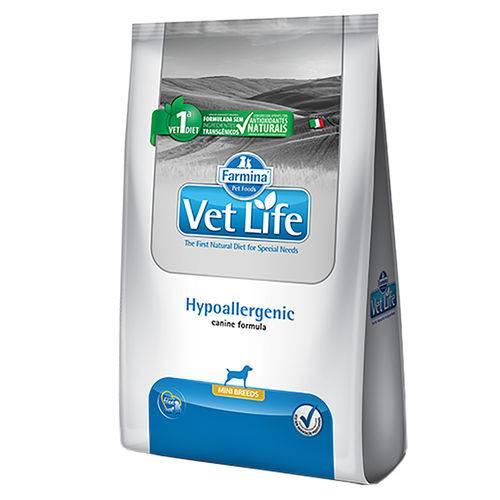 Ração Vet Life Hypoallergenic Mini para Cães Adultos de Pequeno Porte – 2kg