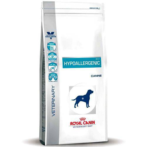 Ração Veterinary Diet Hypoallergenic Royal Canin - 2 Kg