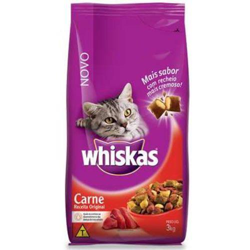 Ração Whiskas Carne para Gatos Adultos - 3kg