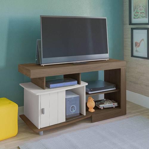 Rack Artely Royal Tv Até 47 Pol 1 Porta Amêndoa/off White
